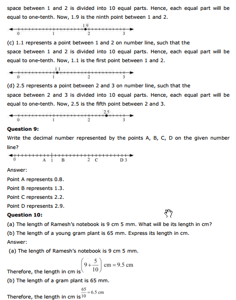 ncert solutions for class 6 maths chapter 8 decimals exercise 8.1