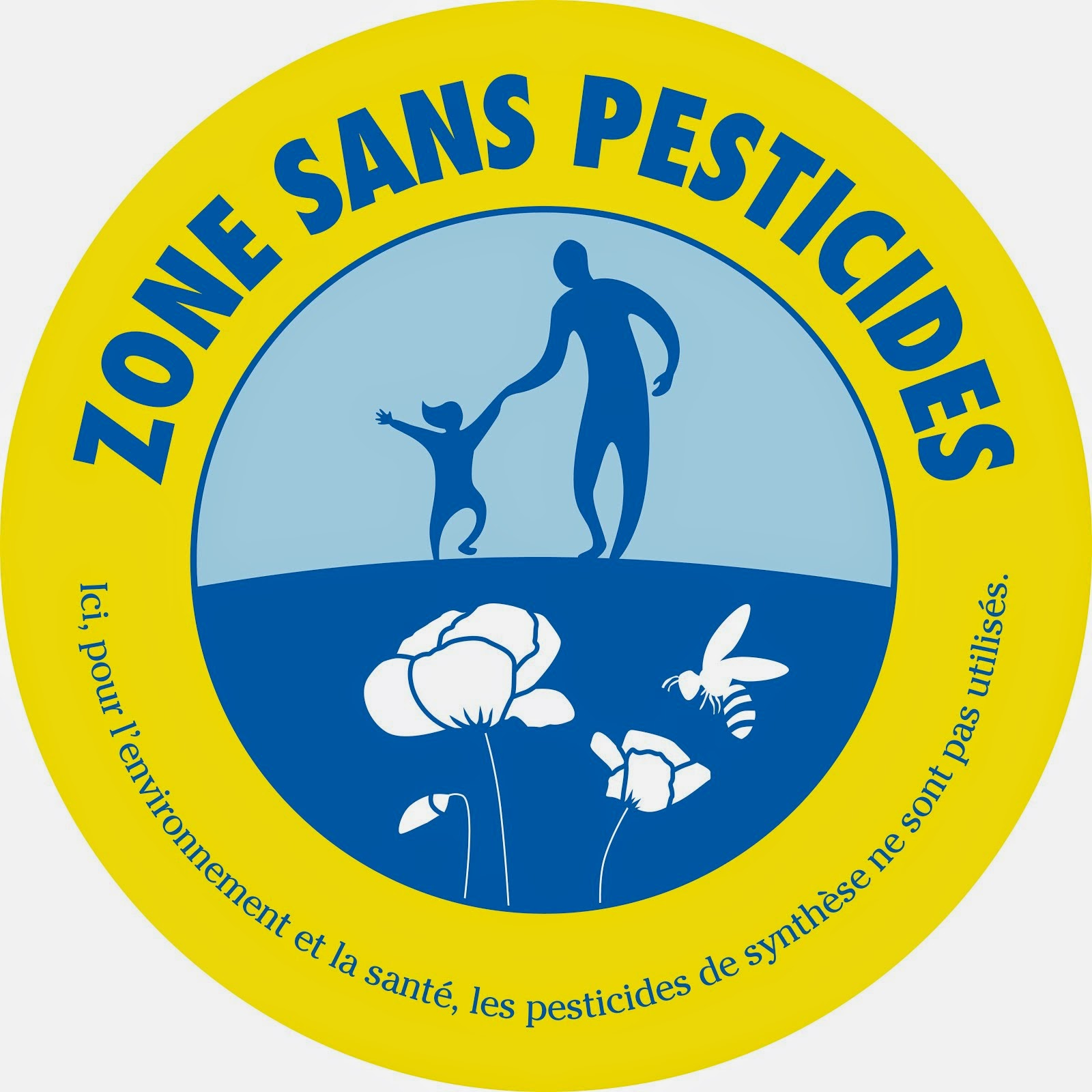 Ici : zone sans pesticides