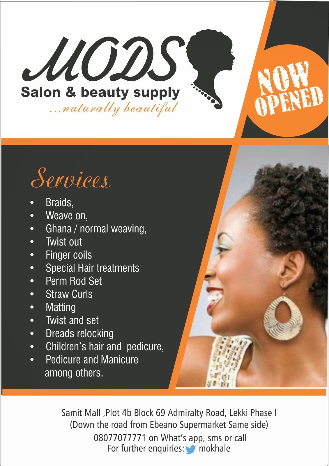 Natural Hair salon in Lekki, Lagos