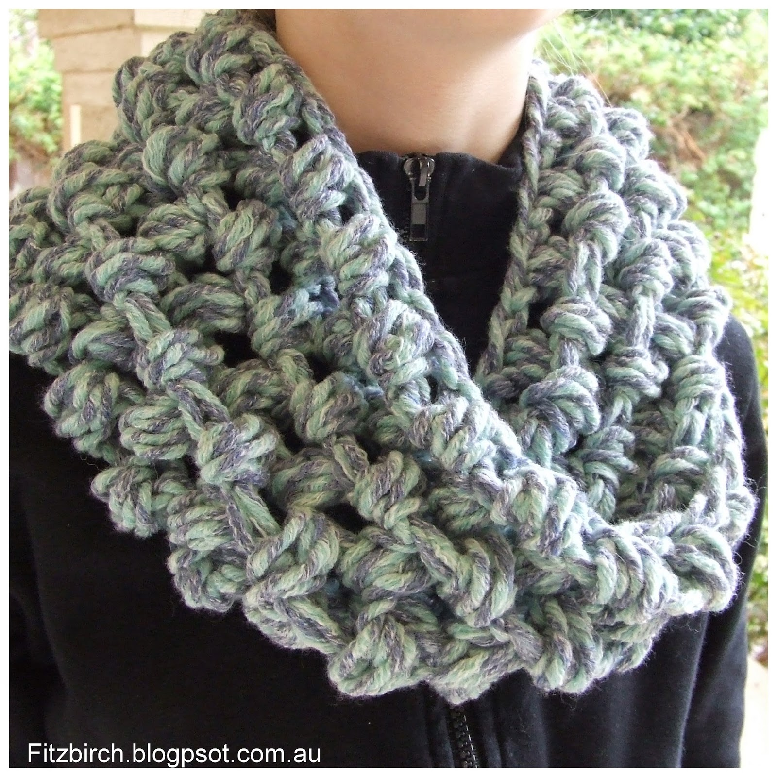 Crochet Patterns For Cowl : FitzBirch Crafts: Cluster Crochet Cowl