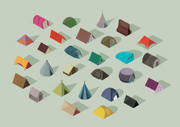 Ilustraciones, Adam Simpson, edimburgo, tents, Edinburgh college of Art, illustration