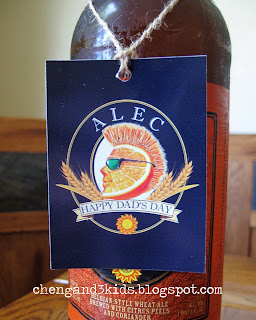 Father's Day Gift - Shock Top Beer with customized tag