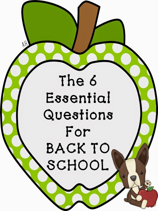 Picture of The 6 Essential Questions for Back to School from Teachingisagift.blogspot.ca
