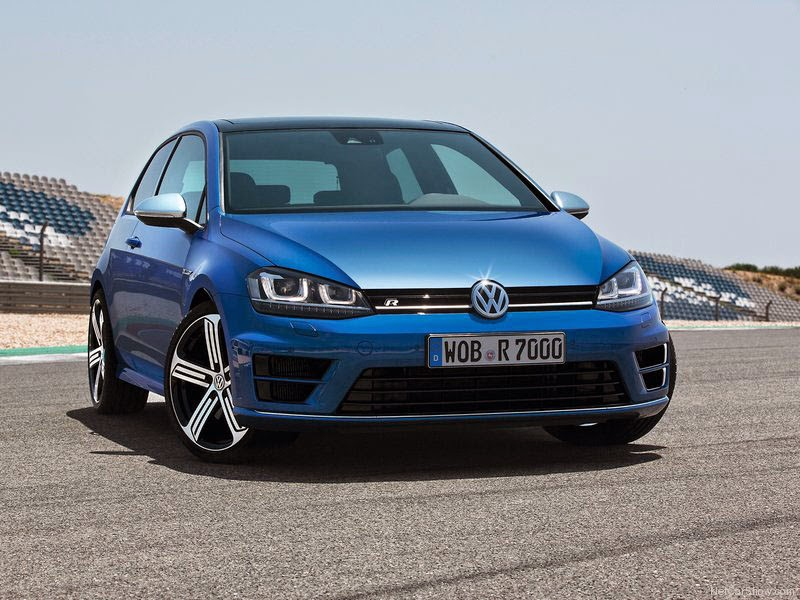 novo VW Golf R - foto frontal de 2014