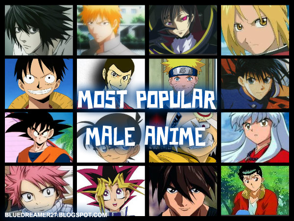 TOP FIVE MOST POPULAR MALE ANIME CHARACTERS