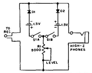 Simple Audio Clipper Circuit Diagram