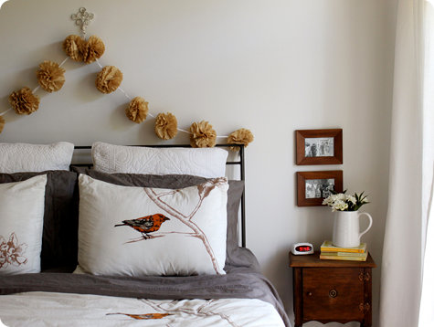 An East Idea To Decorate Basic Headboard Is Hang A Colorful Rug Crocheted Afghan Or Fabric Remnant From Curtain For Instant Makeover