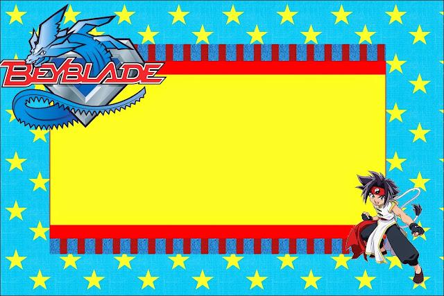 Para hacer invitaciones, tarjetas, marcos de fotos o etiquetas de Beyblade para imprimir gratis.