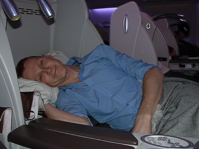 Siège en position lit à l'horizontale sur Air France