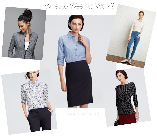 "In today's world, there are many choices for what's ""work appropriate"" depending on your field."