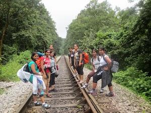 Never meeting parallel railway trek, Dudhsagar water falls trekking