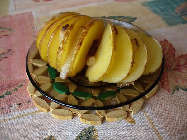 Картошка с салом по-деревенски