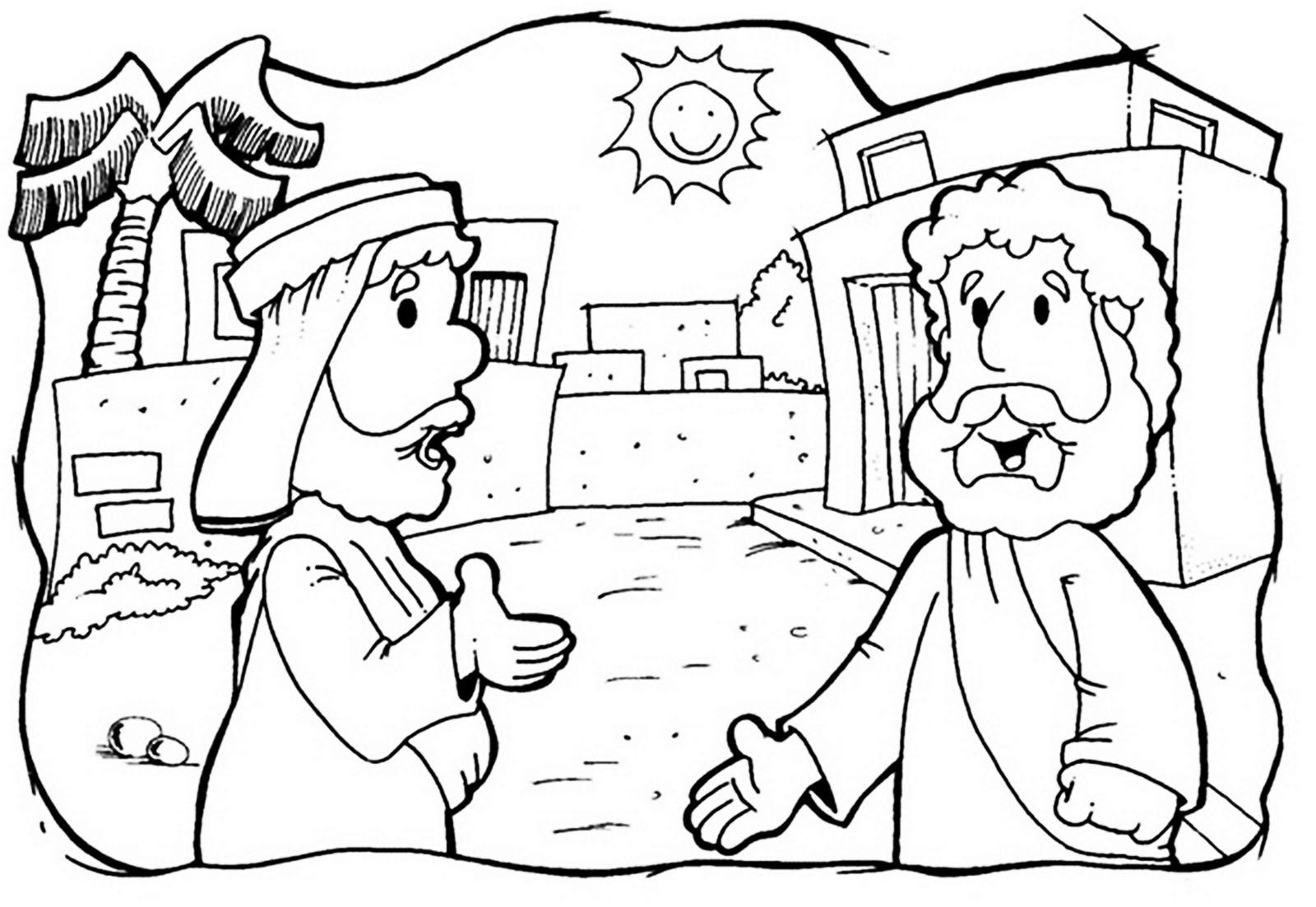 minha herança a parábola do bom samaritano para colorir