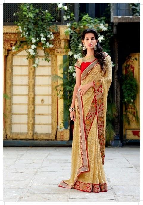 Best Embroidered Saree S 2014 Laxmipati L Kavya Saree By
