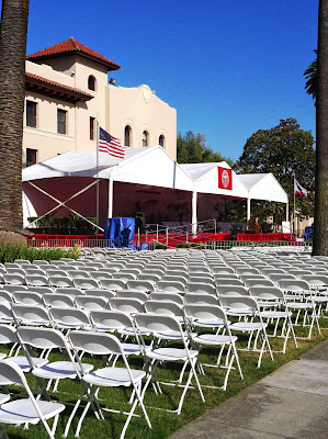 Santa Clara CA University Graduation Event on Memoral Day Weekend