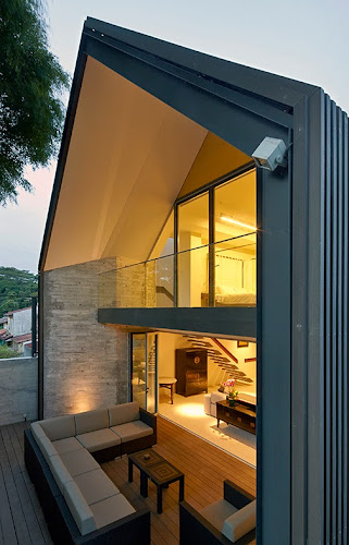 Modern Y-House in Singapore