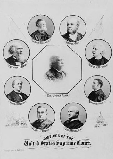 US supreme court justices Plessy