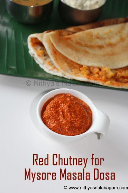 Mysore masala dosa chutney