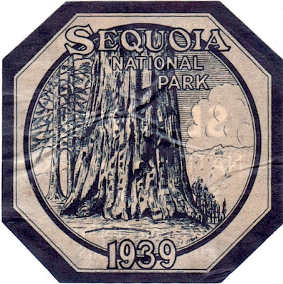 Sequoia National Park Decal 1939