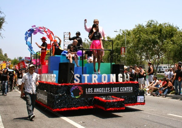 Los Angeles LGBT Center float WeHo Pride Parade 2014