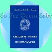 Carteira do Trabalho e Previdência Social, Carteira Profissional, CTPS.