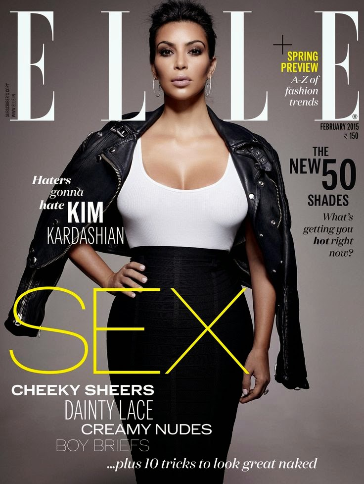 Model, Actress: Kim Kardashian for Elle India