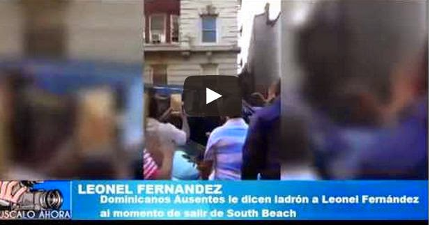 El Video donde le gritan Ladron a LEONEL FERNANDEZ
