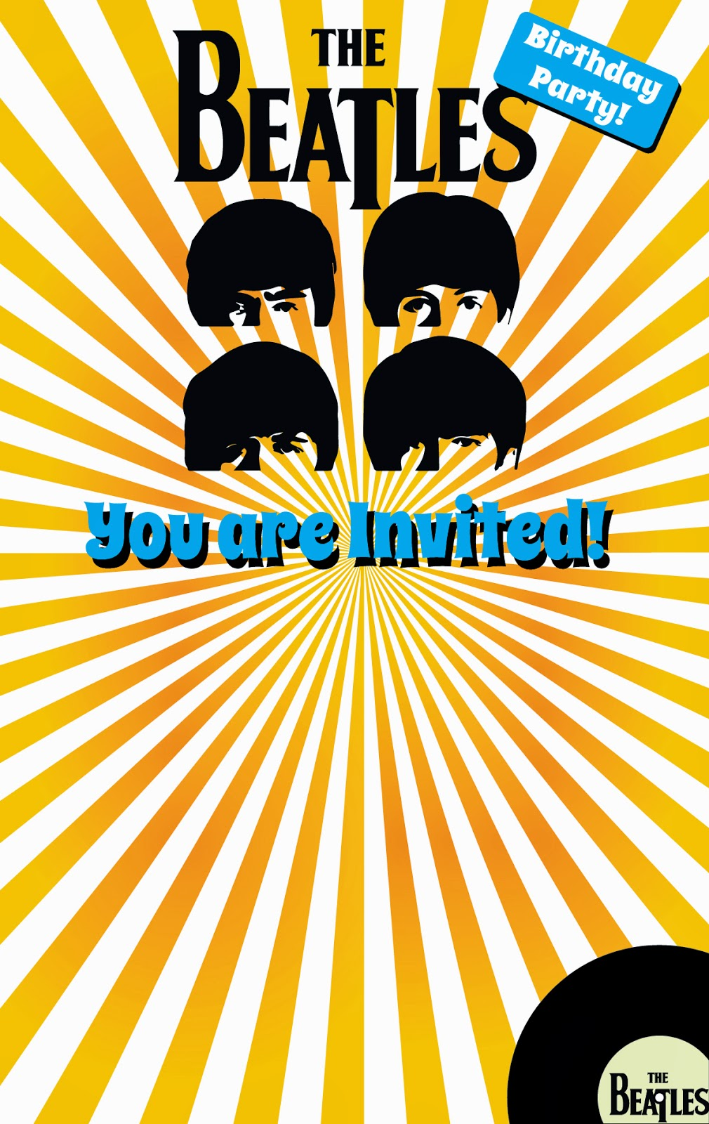 The Boatwright Family Beatles Party and Concert – Beatles Party Invitations