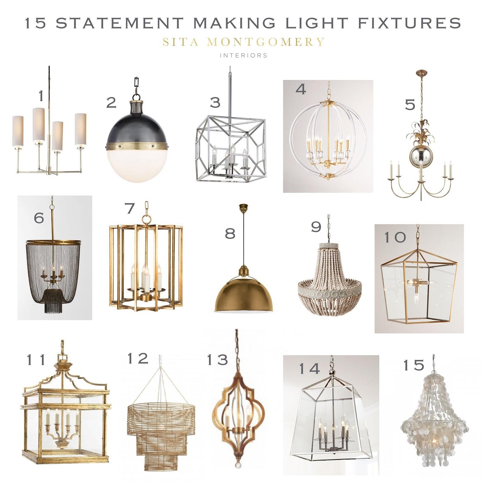 15 statement making light fixtures sita montgomery interiors. Black Bedroom Furniture Sets. Home Design Ideas