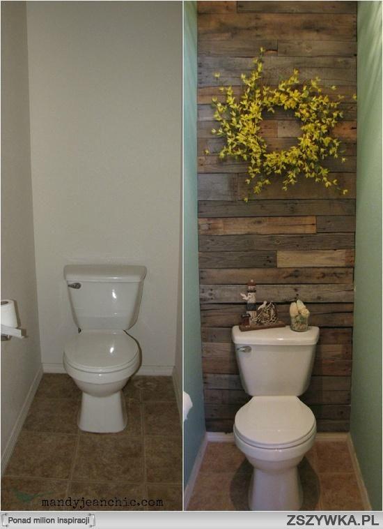 wystrój małej toalety