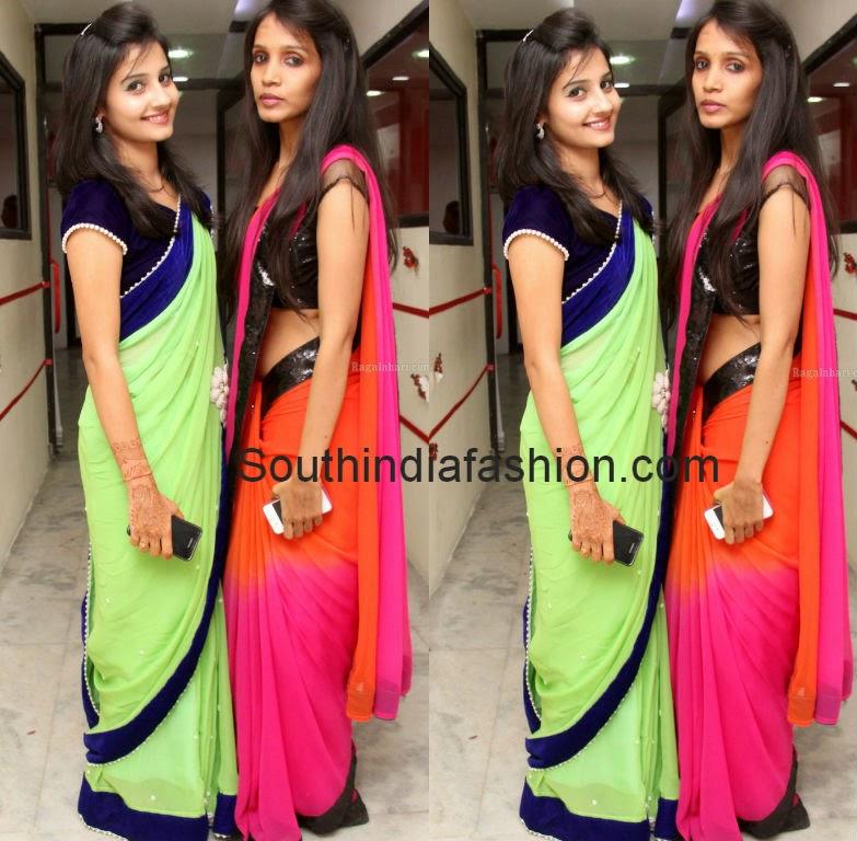 plain sarees with borders