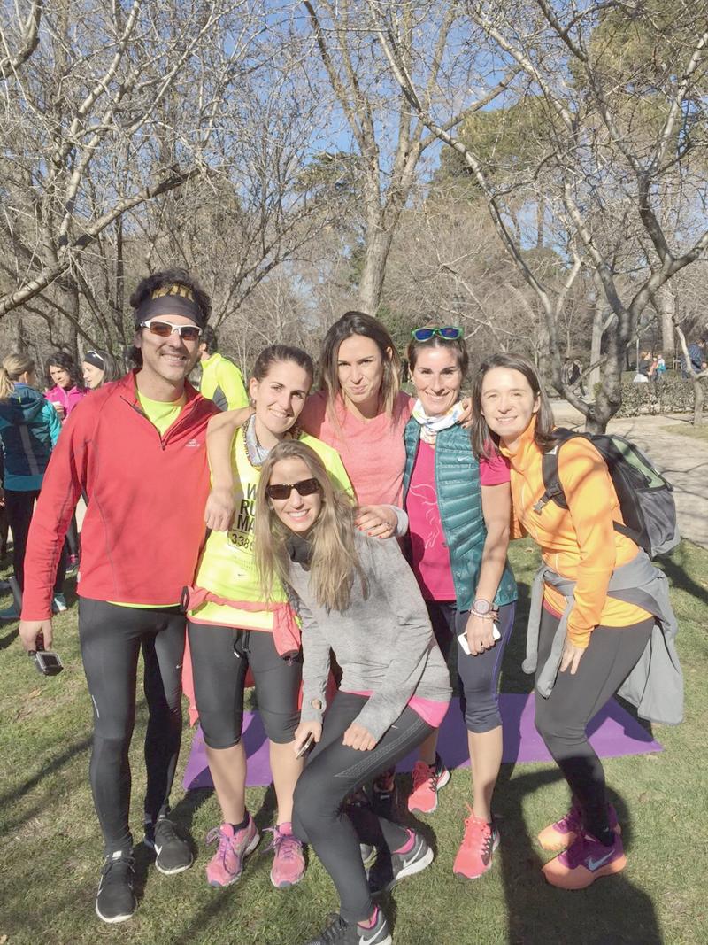Quedada runner con las Guerreras Running, El Retiro, Madrid 10 Enero 2015