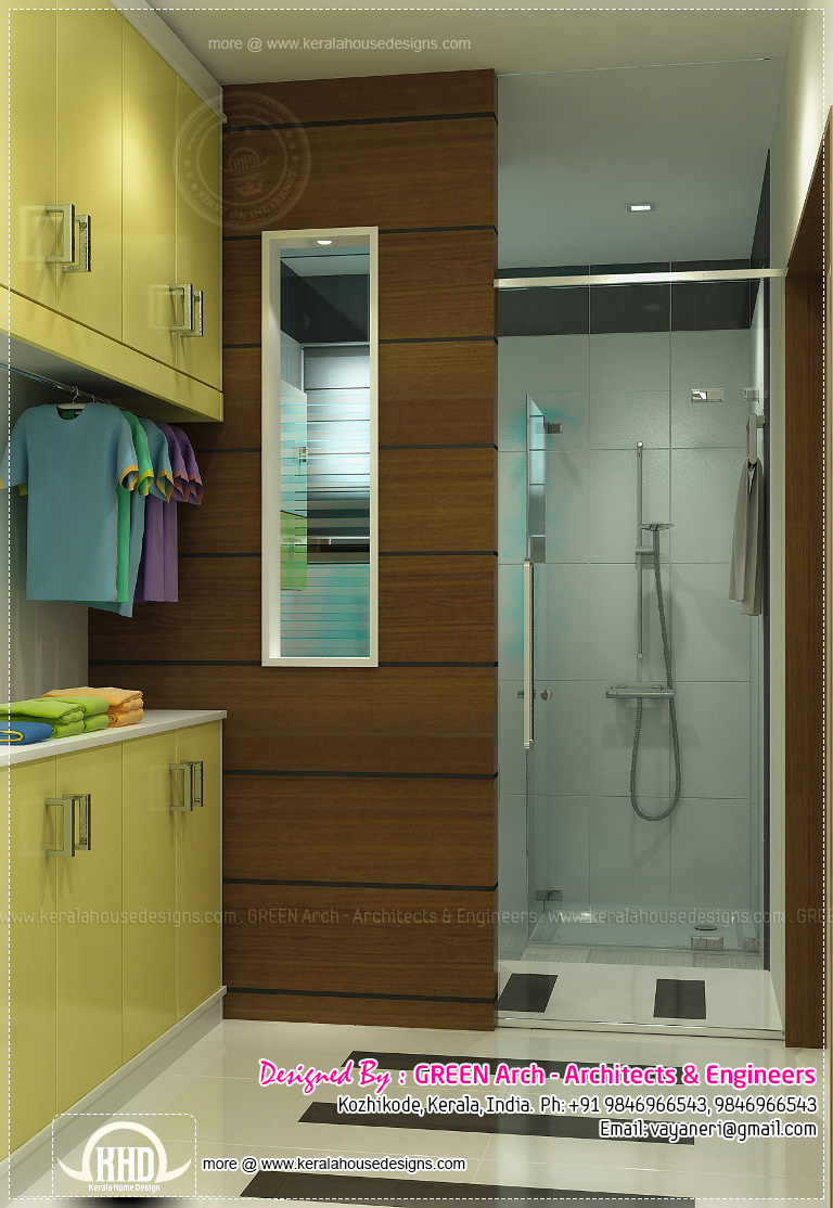 Beautiful home interior designs by green arch kerala for Indian toilet design