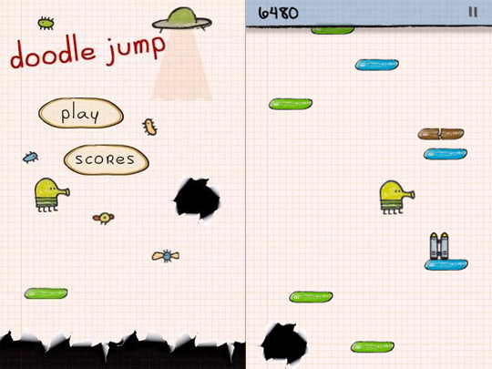 Doodle jump 240x400 java Game free Download for Nokia Asha 305, 306