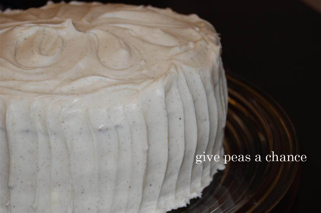 Give Peas A Chance Whole Wheat Carrot Cake With Cream Cheese
