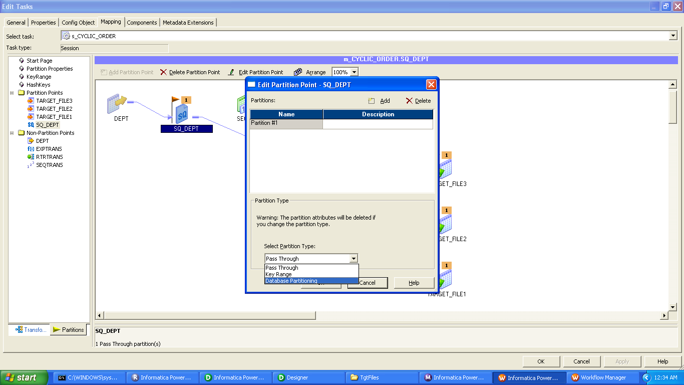 informatica powercenter session partitioning type of informatica you cannot create partition points for the following transformations
