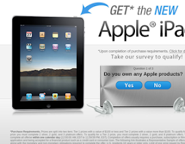 GET the NEW Apple iPad with your participation