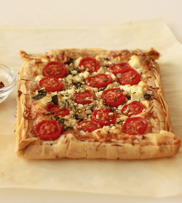 Tomato and Cheese Tart recipe by SeasonWithSpice.com