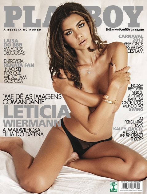 Revista Playboy Leticia Wiermann Filha Do Datena Pelada Nua