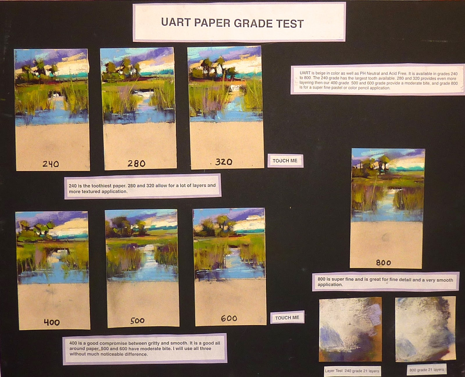 painting my world the best grade of uart pastel paper