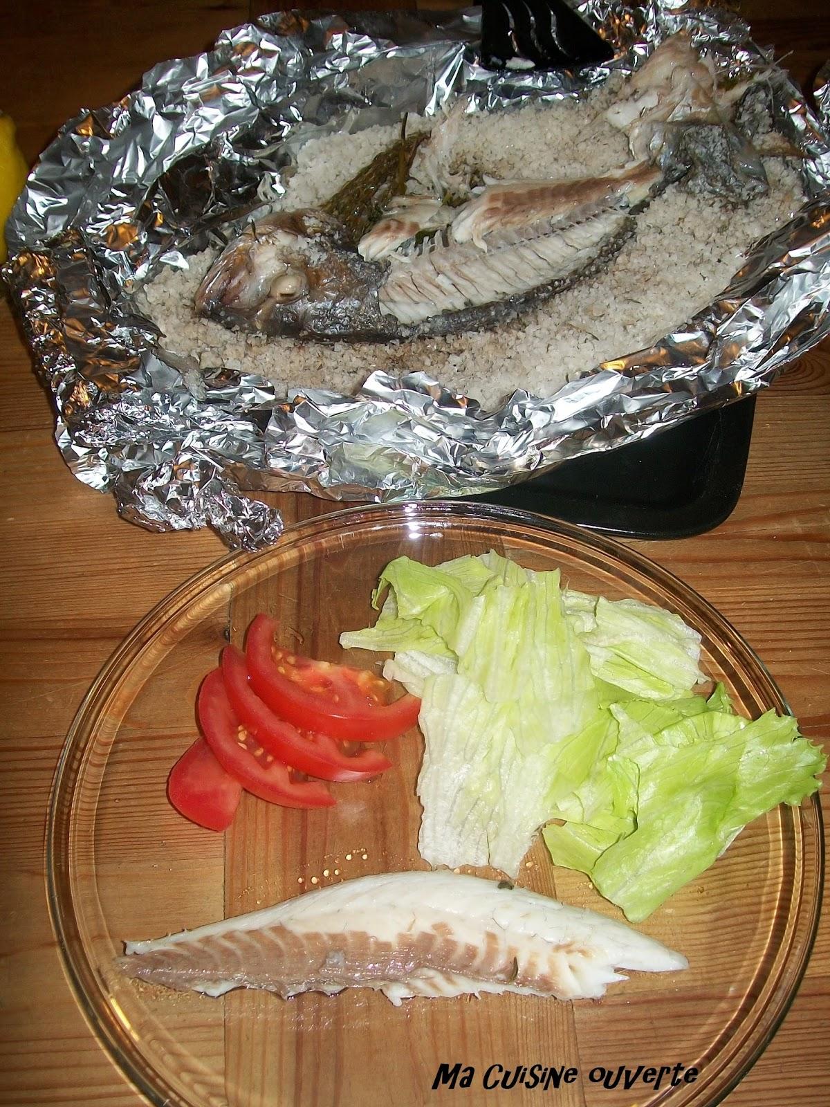 Ma cuisine ouverte dorade en croute de sel for Dorade en papillote au barbecue