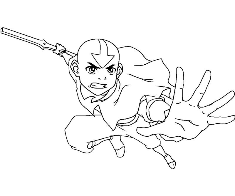 Printable Aang 1 Coloring Page