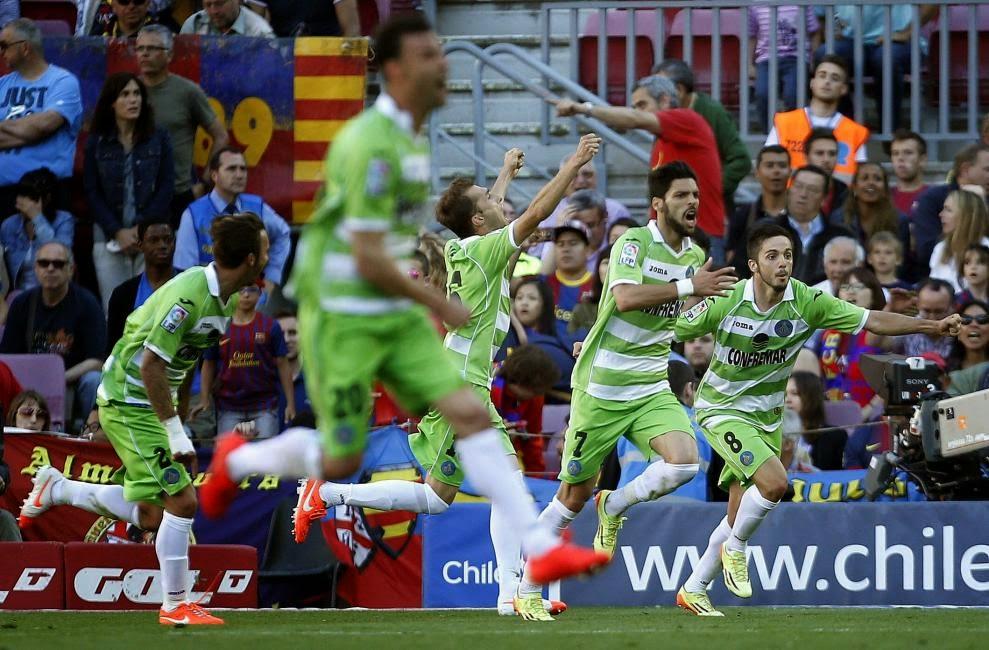 El empate in extremis del Getafe en el Camp Nou sin acertantes