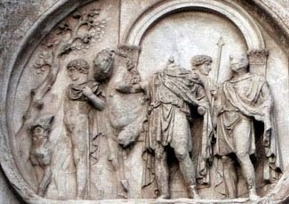 Constantine at the Milvian Bridge