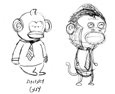 OddeComics Helpdesk Hell Monkey Guy
