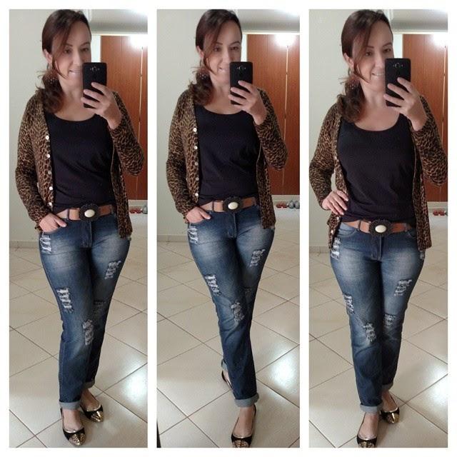 calça jeans destroyed, cardigã animal print, fast fashion, como usar, inspiração de looks, blog camila andrade, blog de moda em ribeirão preto, fashion blogger
