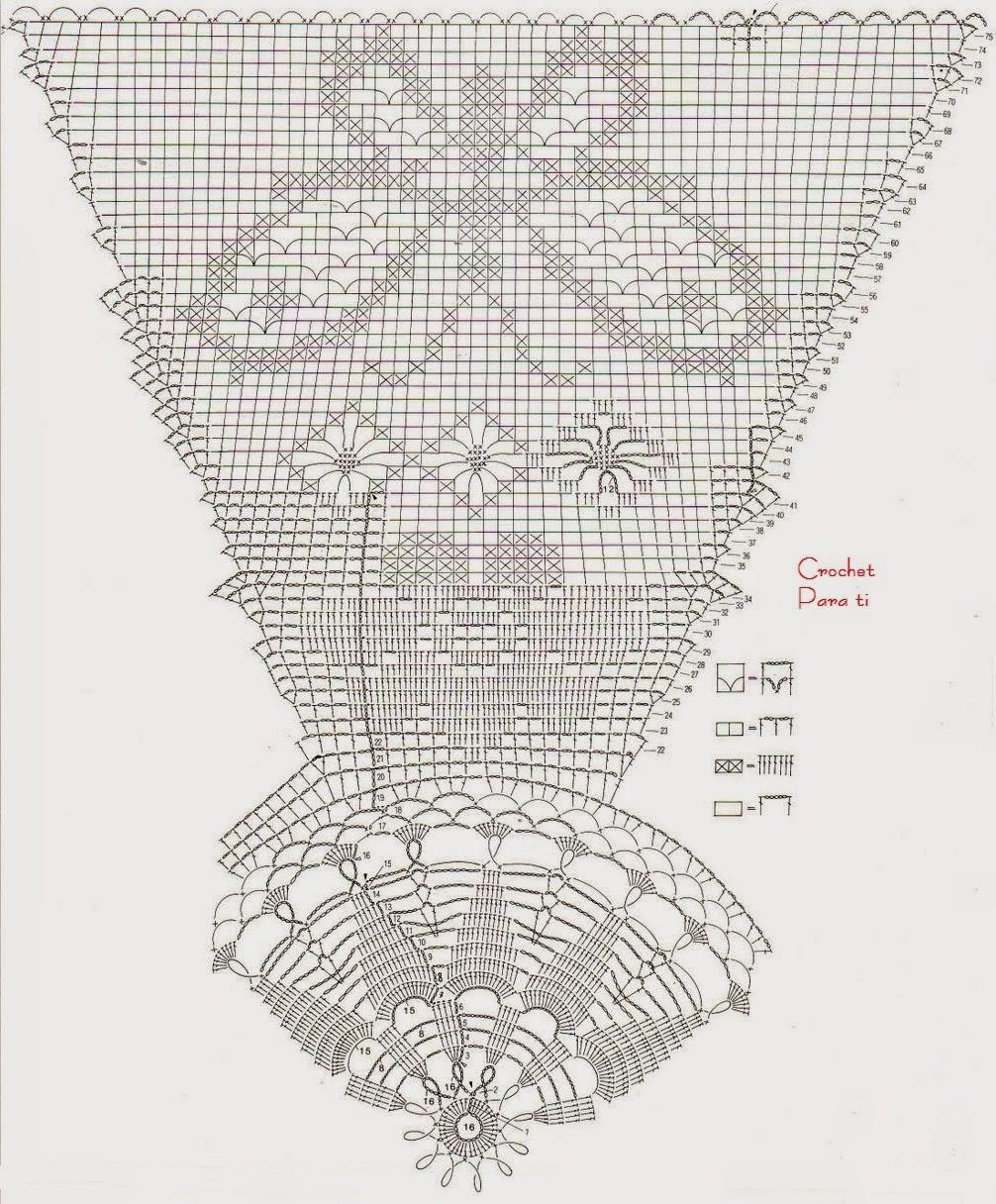 Mantel Crochet con Mariposas y Flores ~ Crochet para Ti