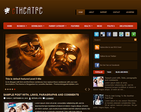 eTheater Blogger Theme