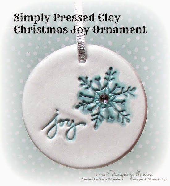 Simply Pressed Clay Christmas Joy Ornament