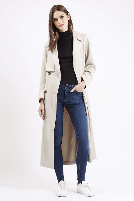 maxi trenchcoat, topshop long mac,